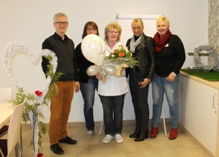 v.r. Petra Langer, Astrid Thiele-Jerome, MArtina Bartsch-Tasche, Michaela Kersting, Andreas Wedeking